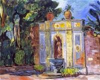 brunnen der villa romana by hans purrmann