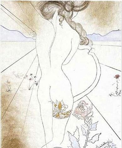 nu a la jarretiere (nude with garter) by salvador dalí