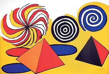 pyramids and spirals by alexander calder