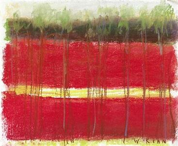 yellow stripe by wolf kahn
