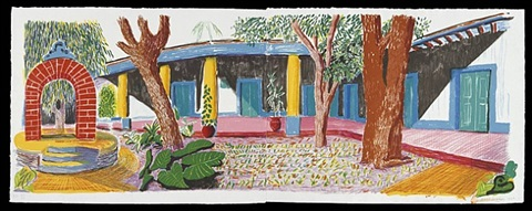 hotel acatlan: second day by david hockney
