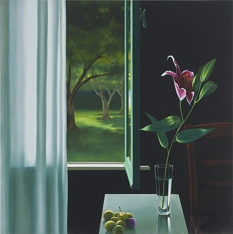 interior with lily and green plums by bruce cohen