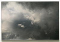 scratched sky/horizontal iii by jim hodges