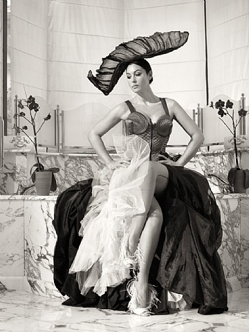 tenue de gala / gala outfit by bettina rheims