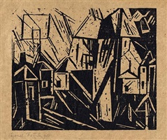village by lyonel feininger