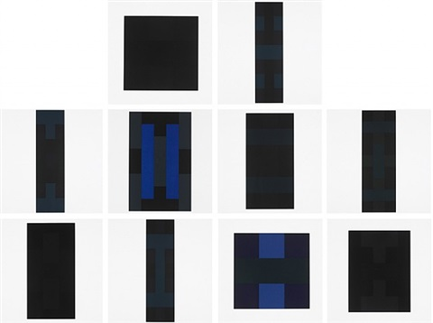 10 screenprints by ad reinhardt