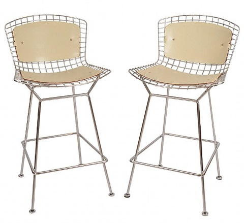 pair of bertoia bar stools by harry bertoia