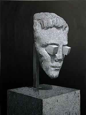 broken head by daniel arsham
