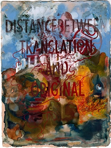 distance between translation and original by shahzia sikander