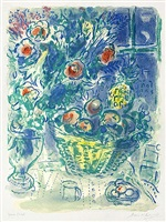 corbeille de fruits et ananas (basket of fruit and pineapples) by marc chagall
