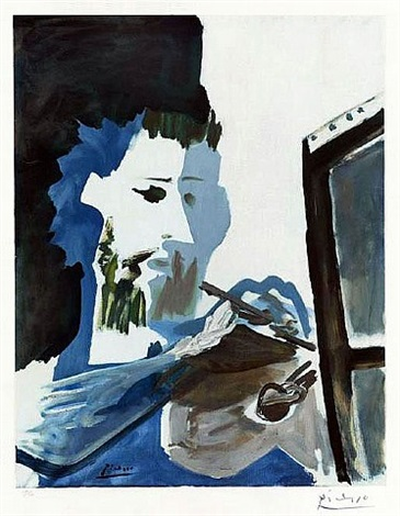 le peintre (the painter) by pablo picasso