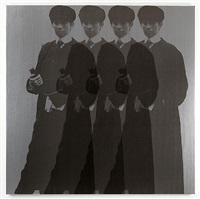 quadruple ghost yentl (my elvis) by deborah kass