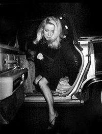 catherine deneuve attends a party honoring francois truffaut at the rock lounge, new york by ron galella