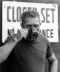 "steve mcqueen on location filming ""papillon"", montego bay, jamaica by ron galella"