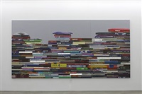 pile of books (horizontal) by airan kang