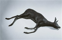gewohnheitstier 2 (reh) (creature of habit 2 deer) by rosemarie trockel