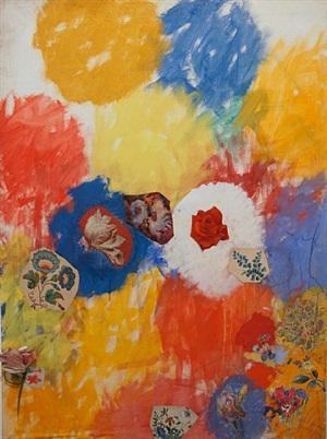 senza titolo (fiori dipinti da me e da altri al 101% n. 2) by tancredi parmeggiani