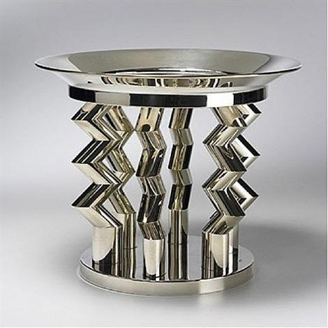 murmansk silver fruitbowl by ettore sottsass