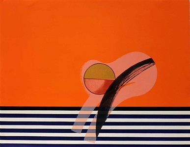 girl on a sofa by howard hodgkin