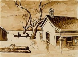 "flood ""mississippi backwater"" by thomas hart benton"