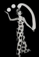 dorothy juggling white light balls, paris by william klein