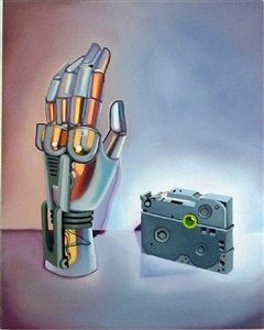 robot hand and orginal mission cassette by megan burns