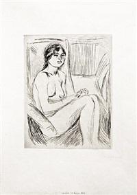 celline naken (celline nude) by edvard munch