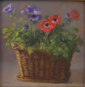 anemones in a basket by susan jositas