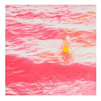 wading ii (pink) by isca greenfield-sanders