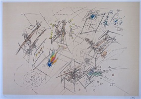five lithografies - image a by roberto matta