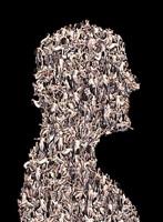 arcimboldo series: portrait bust katharina and tom by franticek klossner