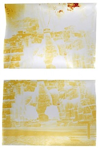 old la at griffith (diptych) by john chiara