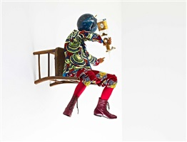 champagne kid (perching) by yinka shonibare mbe