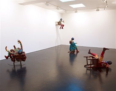 installation view, stephen friedman gallery, london by yinka shonibare mbe
