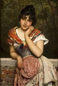 day dreaming by eugen von blaas