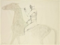 horse and rider by elisabeth frink