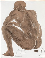 seated nude by elisabeth frink