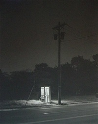 phone booth, 3 a.m., rahway, new jersey, 1974 george tice by george tice