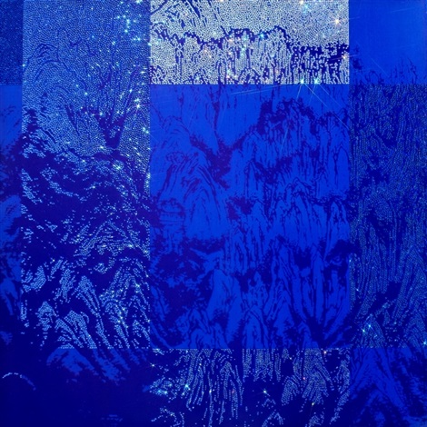 artificial landscape geometric blue by kim jongsook
