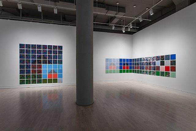 installation view, 2012, works by jennifer bartlett