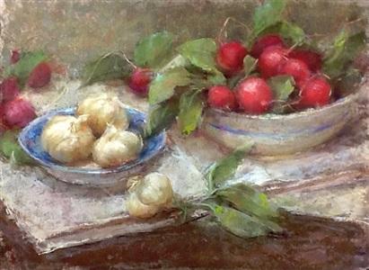 french radishes (sold) by stephanie birdsall