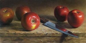reflecting apples (sold) by michael naples