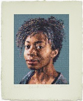 kara / felt hand stamp by chuck close