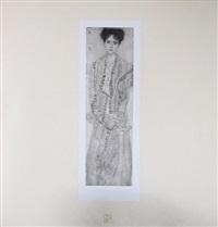 <u>portrait of gertha felsovanyi</u> from das werk by gustav klimt
