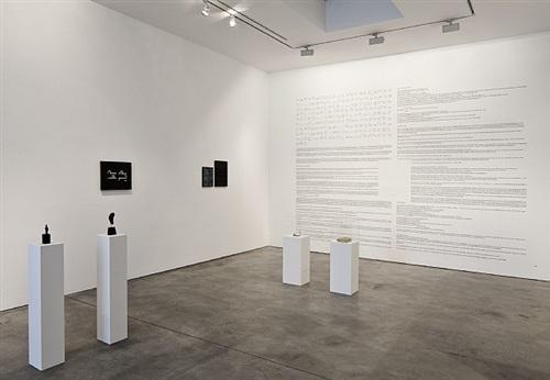 ausstellungsansicht aus michael müllers in situ und ex situ, galerie thomas schulte, berlin (2013)
