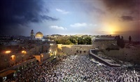 wailing wall, jerusalem, from the day to night series by stephen wilkes