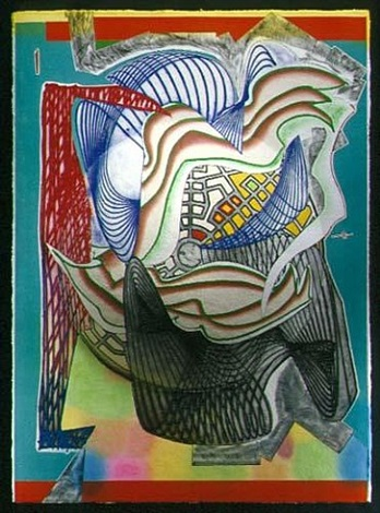 the funeral - dome from the moby dick dome series by frank stella