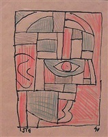 untitled (face) by joaquín torres garcía