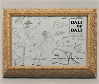 drawing in dali by dali by salvador dalí