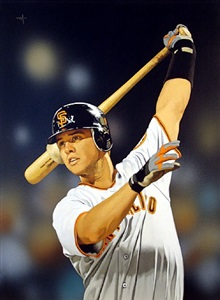 buster posey on deck by arthur k. miller